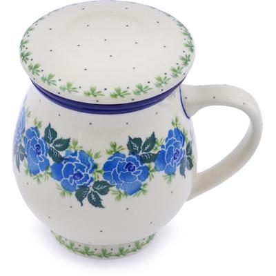 Polish Pottery 14 oz Brewing Mug | Boleslawiec Stoneware | Polmedia H1196J