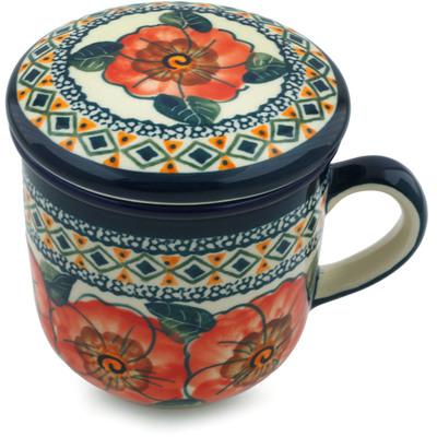 Polish Pottery 12 oz Brewing Mug | Boleslawiec Stoneware | Polmedia H4924I