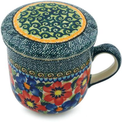 Polish Pottery 12 oz Brewing Mug | Boleslawiec Stoneware | Polmedia H4975I