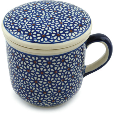 Polish Pottery 12 oz Brewing Mug | Boleslawiec Stoneware | Polmedia H4178I
