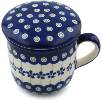 Polish Pottery 12 oz Brewing Mug | Boleslawiec Stoneware | Polmedia H9429B