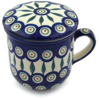 Polish Pottery 12 oz Brewing Mug | Boleslawiec Stoneware | Polmedia H4185I