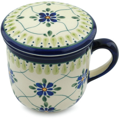 Polish Pottery 12 oz Brewing Mug | Boleslawiec Stoneware | Polmedia H4187I