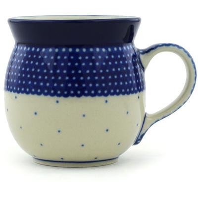 Polish Pottery 8 oz Bubble Mug | Boleslawiec Stoneware | Polmedia H2334H