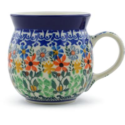 Polish Pottery 8 oz Bubble Mug | Boleslawiec Stoneware | Polmedia H6855B