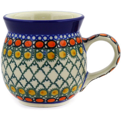 Polish Pottery 8 oz Bubble Mug | Boleslawiec Stoneware | Polmedia H2052E