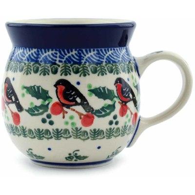 Polish Pottery 8 oz Bubble Mug | Boleslawiec Stoneware | Polmedia H0347I