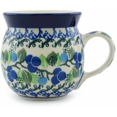 Polish Pottery 8 oz Bubble Mug   Boleslawiec Stoneware   Polmedia H0349I