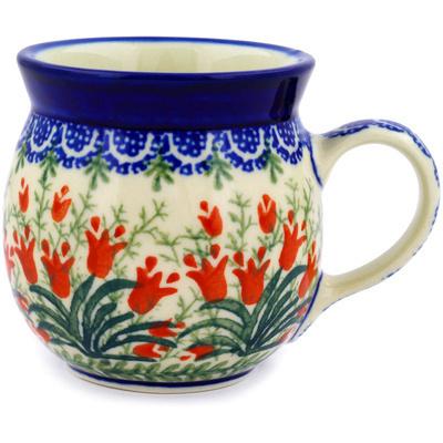 Polish Pottery 8 oz Bubble Mug | Boleslawiec Stoneware | Polmedia H4064D
