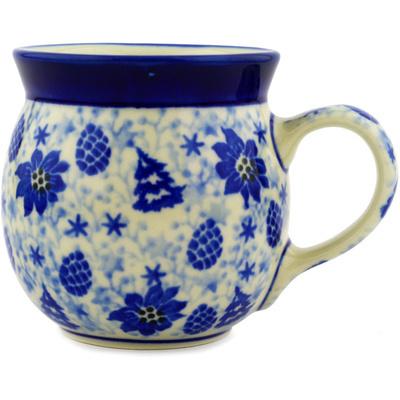 Polish Pottery 8 oz Bubble Mug | Boleslawiec Stoneware | Polmedia H2055D
