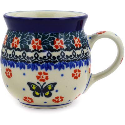Polish Pottery 8 oz Bubble Mug | Boleslawiec Stoneware | Polmedia H2044E