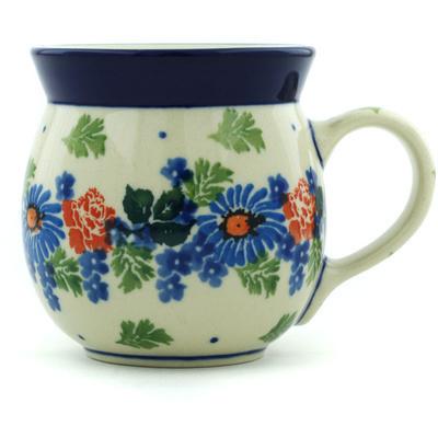 Polish Pottery 8 oz Bubble Mug | Boleslawiec Stoneware | Polmedia H5647H