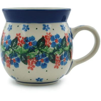 Polish Pottery 8 oz Bubble Mug | Boleslawiec Stoneware | Polmedia H1777I