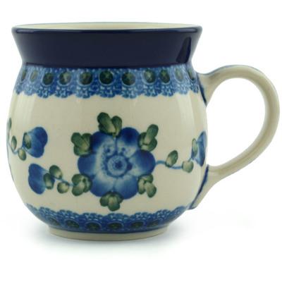 Polish Pottery 8 oz Bubble Mug | Boleslawiec Stoneware | Polmedia H2494A