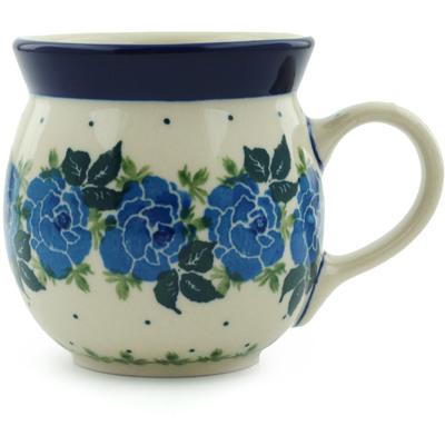 Polish Pottery 8 oz Bubble Mug | Boleslawiec Stoneware | Polmedia H1728I