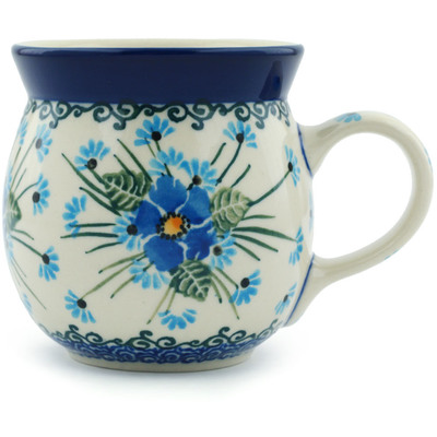 Polish Pottery 8 oz Bubble Mug   Boleslawiec Stoneware   Polmedia H0652I
