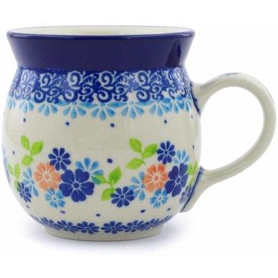 Polish Pottery 8 oz Bubble Mug | Boleslawiec Stoneware | Polmedia H9758I