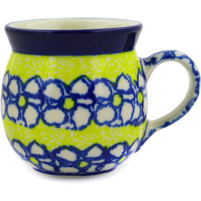 Polish Pottery 8 oz Bubble Mug | Boleslawiec Stoneware | Polmedia H2045E