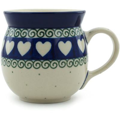 Polish Pottery 8 oz Bubble Mug | Boleslawiec Stoneware | Polmedia H5705B