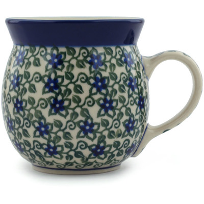 Polish Pottery 8 oz Bubble Mug | Boleslawiec Stoneware | Polmedia H1400B
