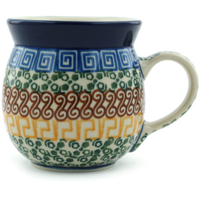 Polish Pottery 8 oz Bubble Mug   Boleslawiec Stoneware   Polmedia H2518A