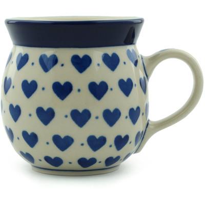 Polish Pottery 8 oz Bubble Mug | Boleslawiec Stoneware | Polmedia H1755I