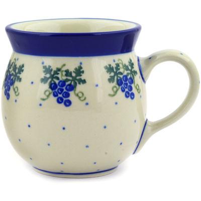 Polish Pottery 8 oz Bubble Mug | Boleslawiec Stoneware | Polmedia H2060E
