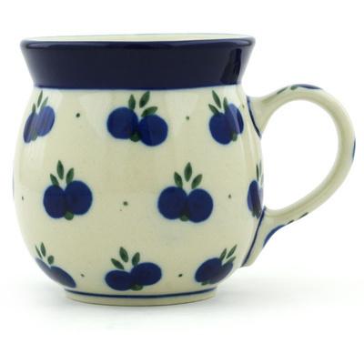 Polish Pottery 8 oz Bubble Mug | Boleslawiec Stoneware | Polmedia H2534A