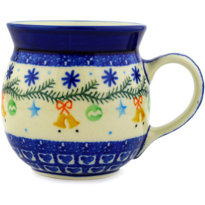 Polish Pottery 8 oz Bubble Mug | Boleslawiec Stoneware | Polmedia H2056D