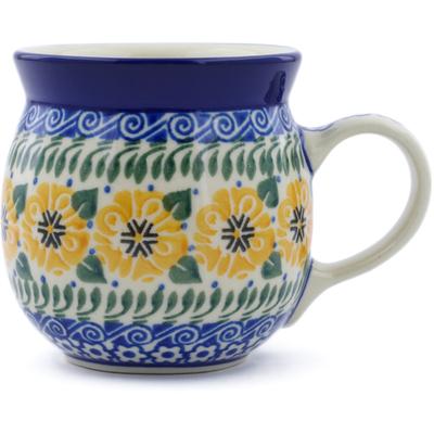 Polish Pottery 8 oz Bubble Mug | Boleslawiec Stoneware | Polmedia H7070C