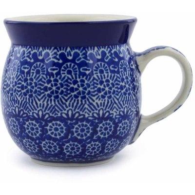 Polish Pottery 8 oz Bubble Mug | Boleslawiec Stoneware | Polmedia H0007B