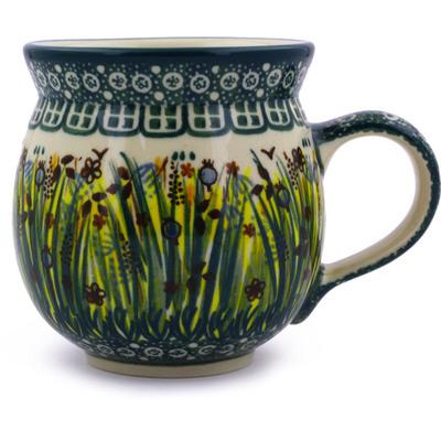 Polish Pottery 12 oz Bubble Mug | Boleslawiec Stoneware | Polmedia H1316B