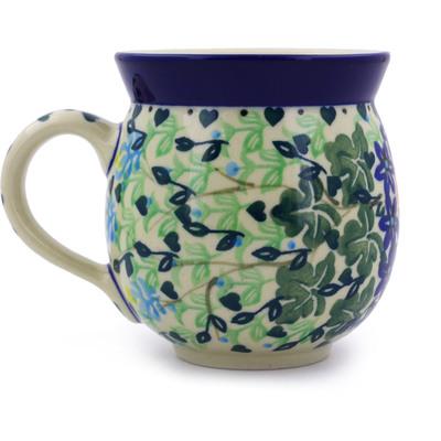 Polish Pottery 12 oz Bubble Mug | Boleslawiec Stoneware | Polmedia H8253A