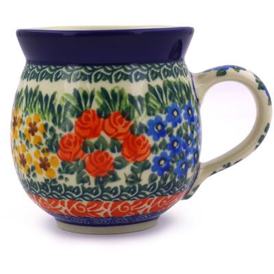Polish Pottery 12 oz Bubble Mug | Boleslawiec Stoneware | Polmedia H1557B
