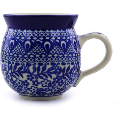 Polish Pottery 12 oz Bubble Mug | Boleslawiec Stoneware | Polmedia H1645C