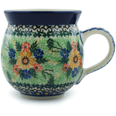 Polish Pottery 12 oz Bubble Mug | Boleslawiec Stoneware | Polmedia H9566A