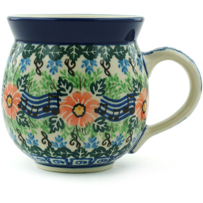 Polish Pottery 12 oz Bubble Mug | Boleslawiec Stoneware | Polmedia H6918H