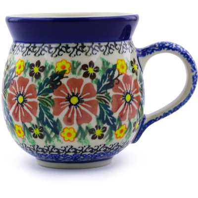 Polish Pottery 12 oz Bubble Mug | Boleslawiec Stoneware | Polmedia H5701B