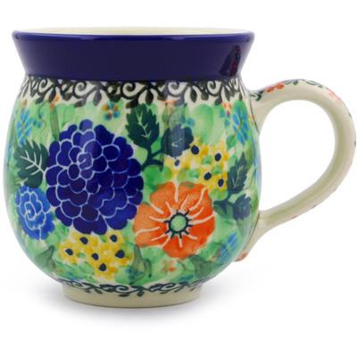 Polish Pottery 12 oz Bubble Mug | Boleslawiec Stoneware | Polmedia H7090B