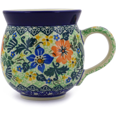 Polish Pottery 12 oz Bubble Mug | Boleslawiec Stoneware | Polmedia H6906B