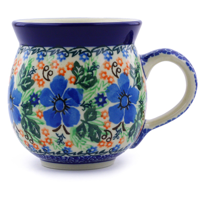 Polish Pottery 12 oz Bubble Mug | Boleslawiec Stoneware | Polmedia H6893B