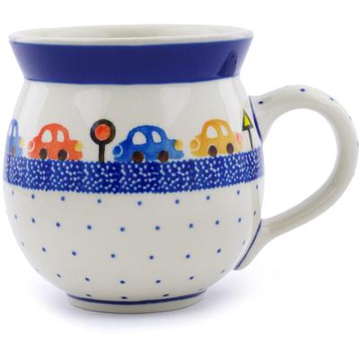 Polish Pottery 12 oz Bubble Mug | Boleslawiec Stoneware | Polmedia H0814J