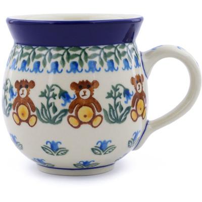 Polish Pottery 12 oz Bubble Mug | Boleslawiec Stoneware | Polmedia H0926J