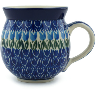 Polish Pottery 12 oz Bubble Mug | Boleslawiec Stoneware | Polmedia H0294B
