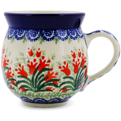 Polish Pottery 12 oz Bubble Mug | Boleslawiec Stoneware | Polmedia H4189D