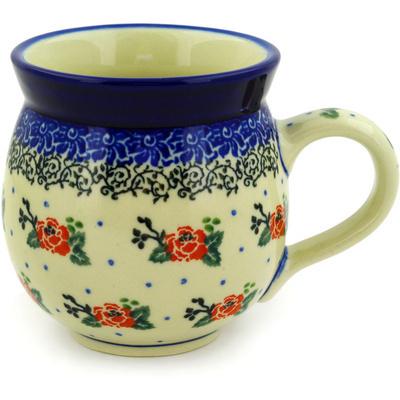 Polish Pottery 12 oz Bubble Mug | Boleslawiec Stoneware | Polmedia H4982D