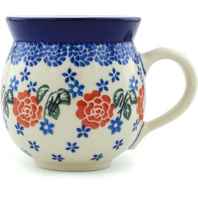 Polish Pottery 12 oz Bubble Mug | Boleslawiec Stoneware | Polmedia H6115H