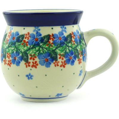 Polish Pottery 12 oz Bubble Mug | Boleslawiec Stoneware | Polmedia H9790E