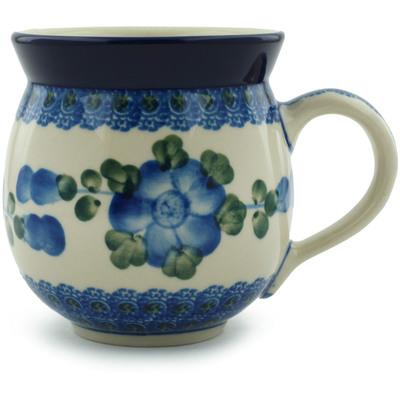 Polish Pottery 12 oz Bubble Mug | Boleslawiec Stoneware | Polmedia H3163A