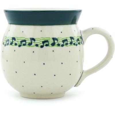 Polish Pottery 12 oz Bubble Mug | Boleslawiec Stoneware | Polmedia H5332H